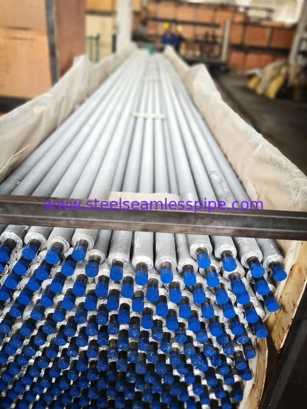 A192 A179 A210 Carbon steel Seamless Boiler / Air Cooler / Heat Exchanger Extruded Fin Tube Solid Type