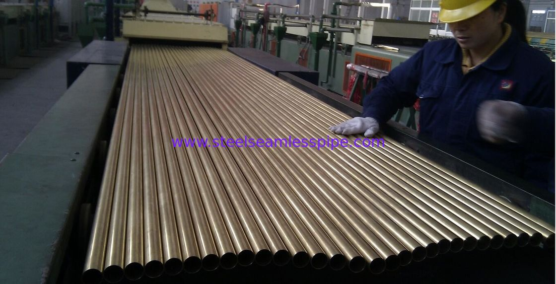 SEAMLESS BRASS TUBE ASTM B111 MATERIAL C44300 25.4MM*1.245MM*12995MM FOR CONDENSOR
