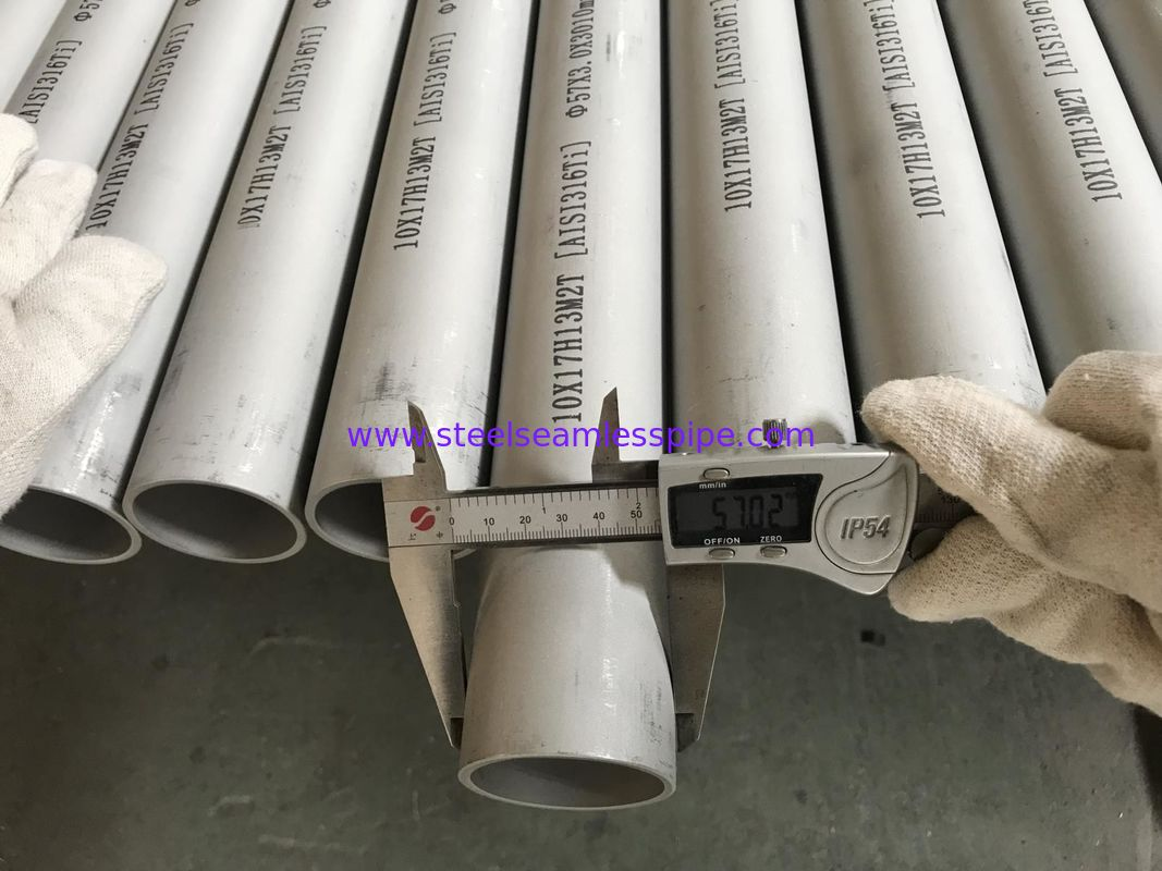Top Grade Seamless SS Tubing ASTM A213 57MM*3.0MM*3010MM UNS S31635 1.4571