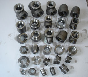 "Stainless Steel Forged Fittings Nikel Alloy Carbon Steel ditempa pas NPT 1 ""3000 # A182 / A105 B16.11"